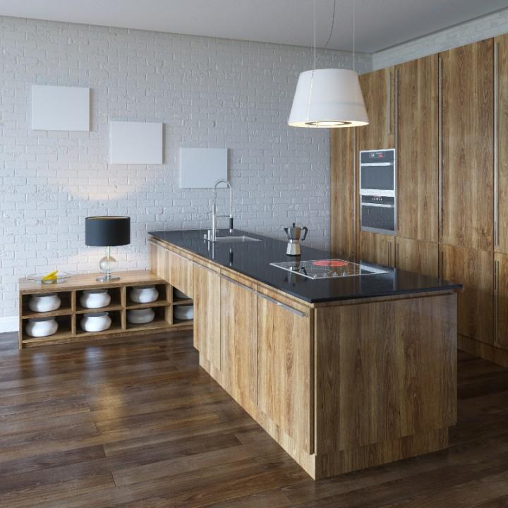kuchnia w drewnie przyk�adowe aranżacje projekt kuchni